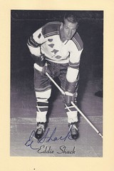 1944-63 NHL Beehive Hockey Photo / Group II - EDDIE SHACK (Left Wing) - Autographed Hockey Card (New York Rangers) (#361)