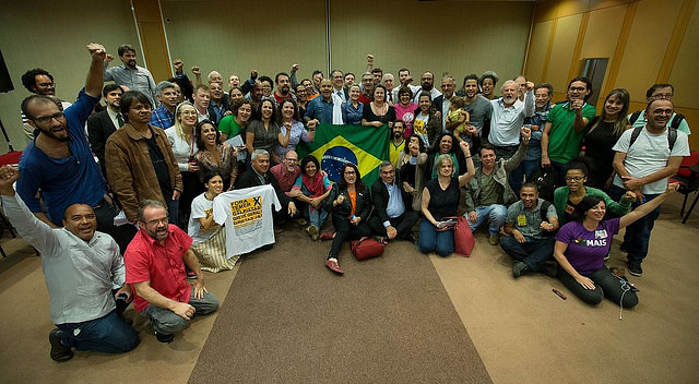 Organizaciones durante lanzamiento del foro este lunes, en Brasilia  - Créditos: Lula Marques/Agencia PT