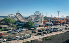 Coney Island Cyclone and Luna Park