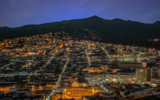 After sunset, Quito