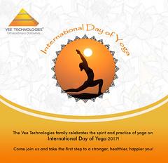 International Yoga Day Vee Technologies - 2017