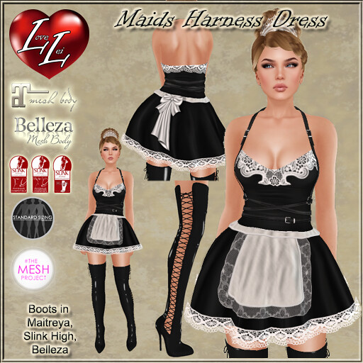 Maids Harness Dress Ad - SecondLifeHub.com