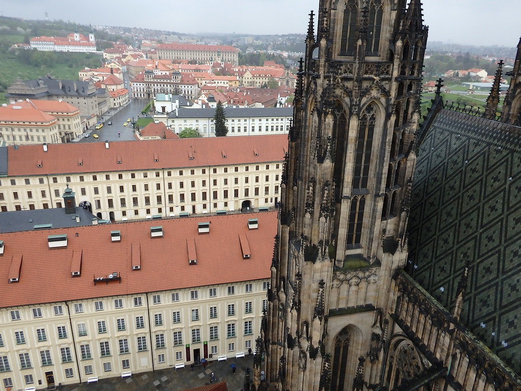 Views from the tower of St. Vitus Cathedral
