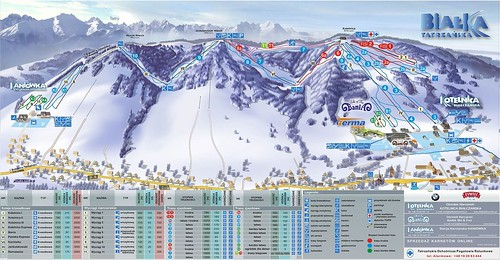 Bialka Tatrzanska - mapa sjezdovek
