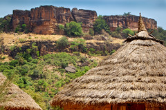 Colourful mountains near Siby, Mali, Africa.