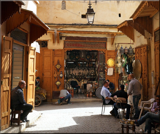 medina street life