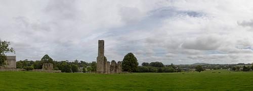 Ferns Round Tower panorama