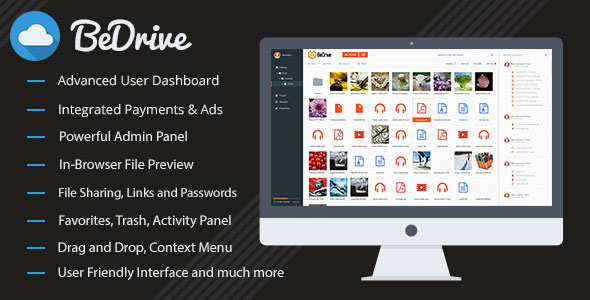 BeDrive v1.9 - File Sharing and Cloud Storage