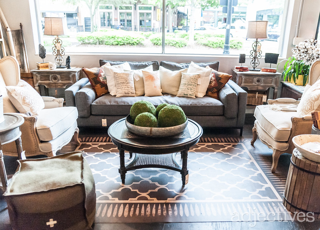 Cozy living room furniture and decor in Winter Garden