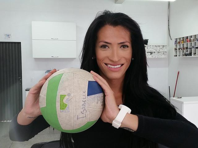Vôlei é o esporte preferido de Isabelle desde a infância  - Créditos: Daniel Giovanaz