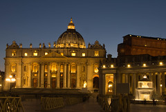 St Peter's Basilica from the Piazza San Pietro