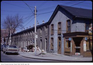 Garibaldi House, north-east corner, Berkeley Street and King Street East