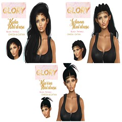 THREE GLORY Hairbases Available now @ APPLIQUE!