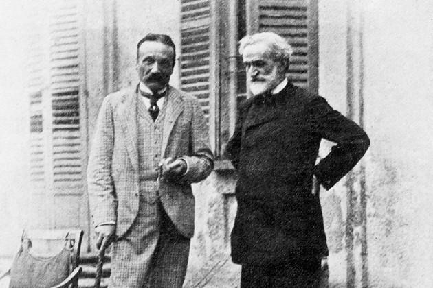 Arrigo Boito and Giuseppe Verdi, 1892. Photograph by Achille Ferrario