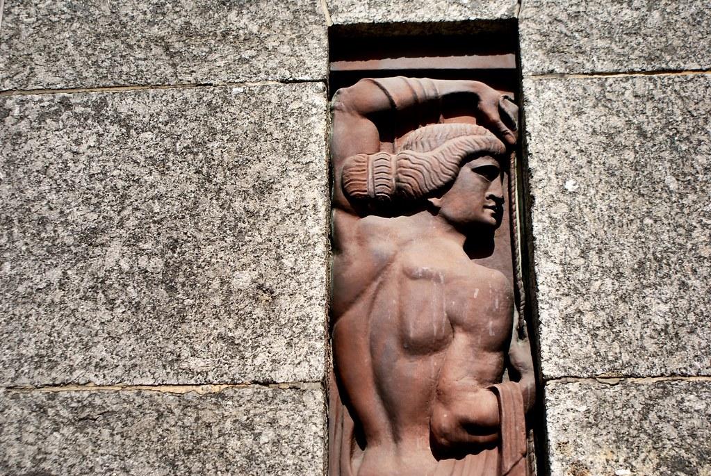 Sculpture art nouveau dans la capitale lettone à Riga.