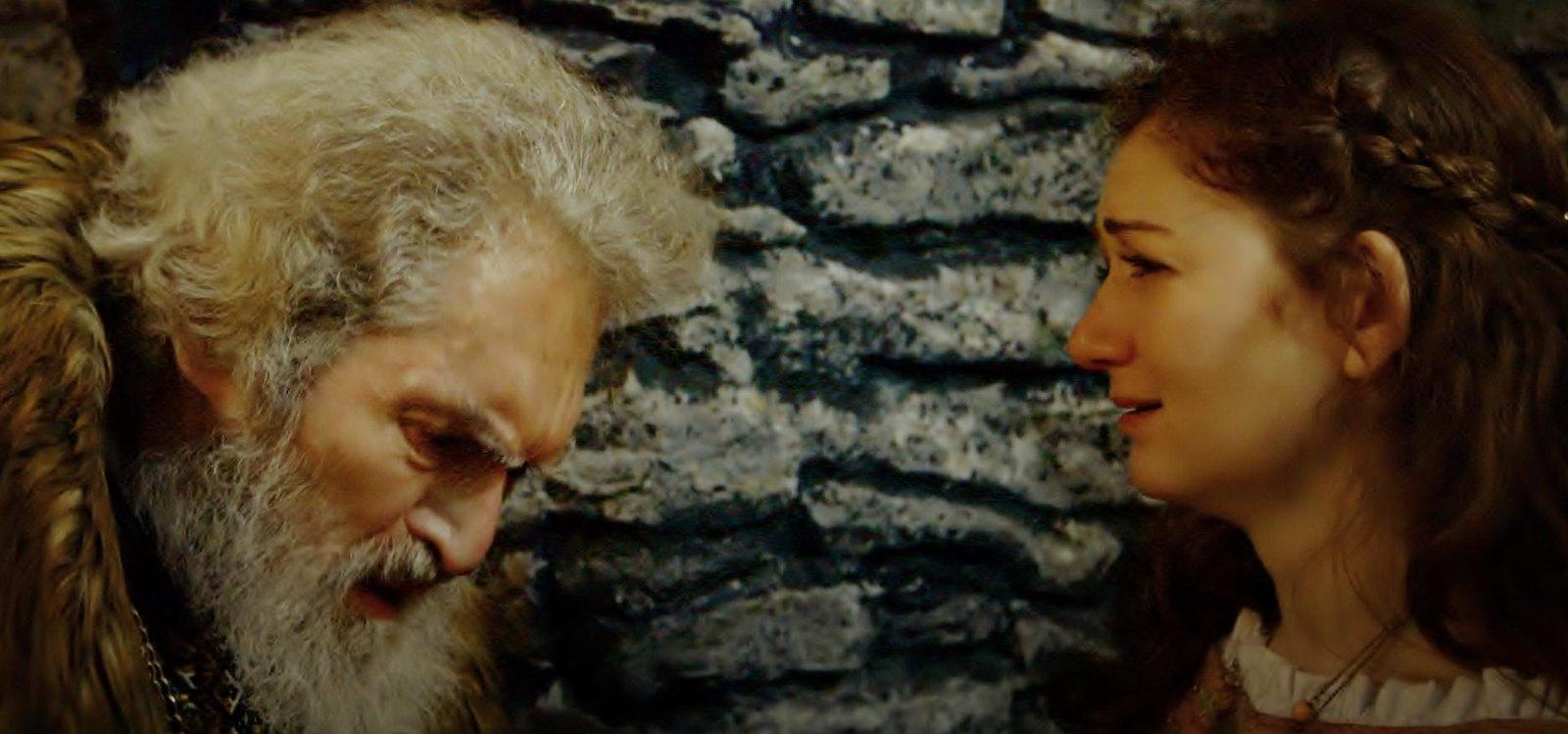 Lear comforts Cordelia Alexander Barnett film