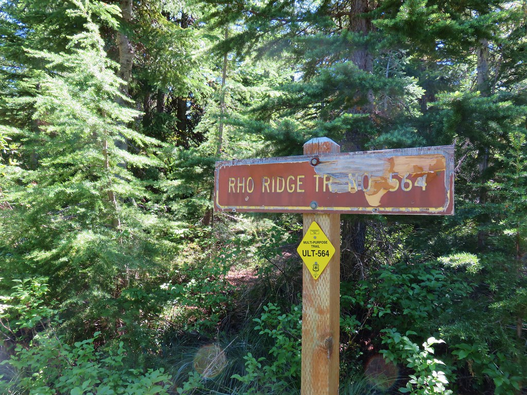 Rho Ridge Trail sign