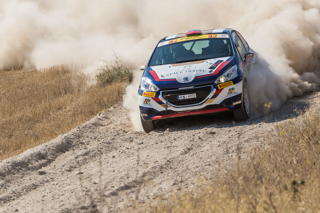 18 MURADIAN Artur (rus) and CHELEBAEV Pavel (rus) NEIKSANS RALLY SPORT PEUGEOT 208 R2 action during the 2017 European Rally Championship ERC Cyprus Rally,  from june 16 to 18  at Nicosie, Cyprus - Photo Thomas Fenetre / DPPI