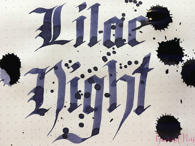 Ink Shot Review Diamine Anniversary Lilac Night @AppelboomLaren 8
