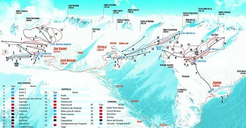 Foppolo - mapa sjezdovek
