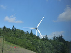 Wind farm from the Autoroute du Soleil - A6. - Photo of Auxant