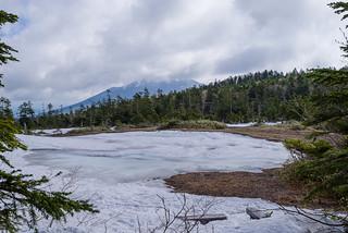 富士見田代は残雪の下