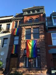 Rainbow flags, house on S Street NW, Washington, D.C.