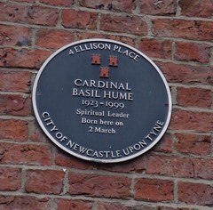 Photo of Basil Hume blue plaque