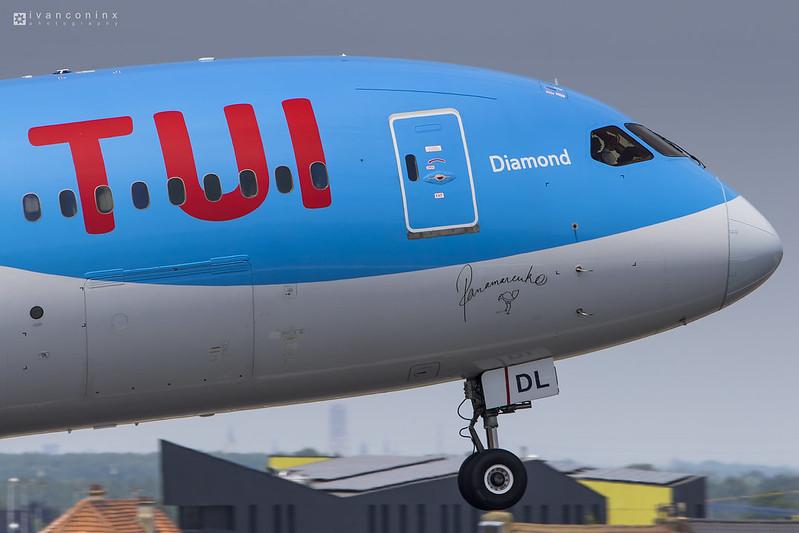 Boeing 787-8 Dreamliner – TUI Fly Belgium – OO-JDL – Brussels Airport (BRU EBBR) – 2017 06 21 – Takeoff RWY 07R – 01 – Copyright © 2017 Ivan Coninx