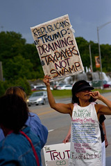 Protest at Fundraiser for Illinois Governor Bruce Rauner Rosemont 6-19-17 055