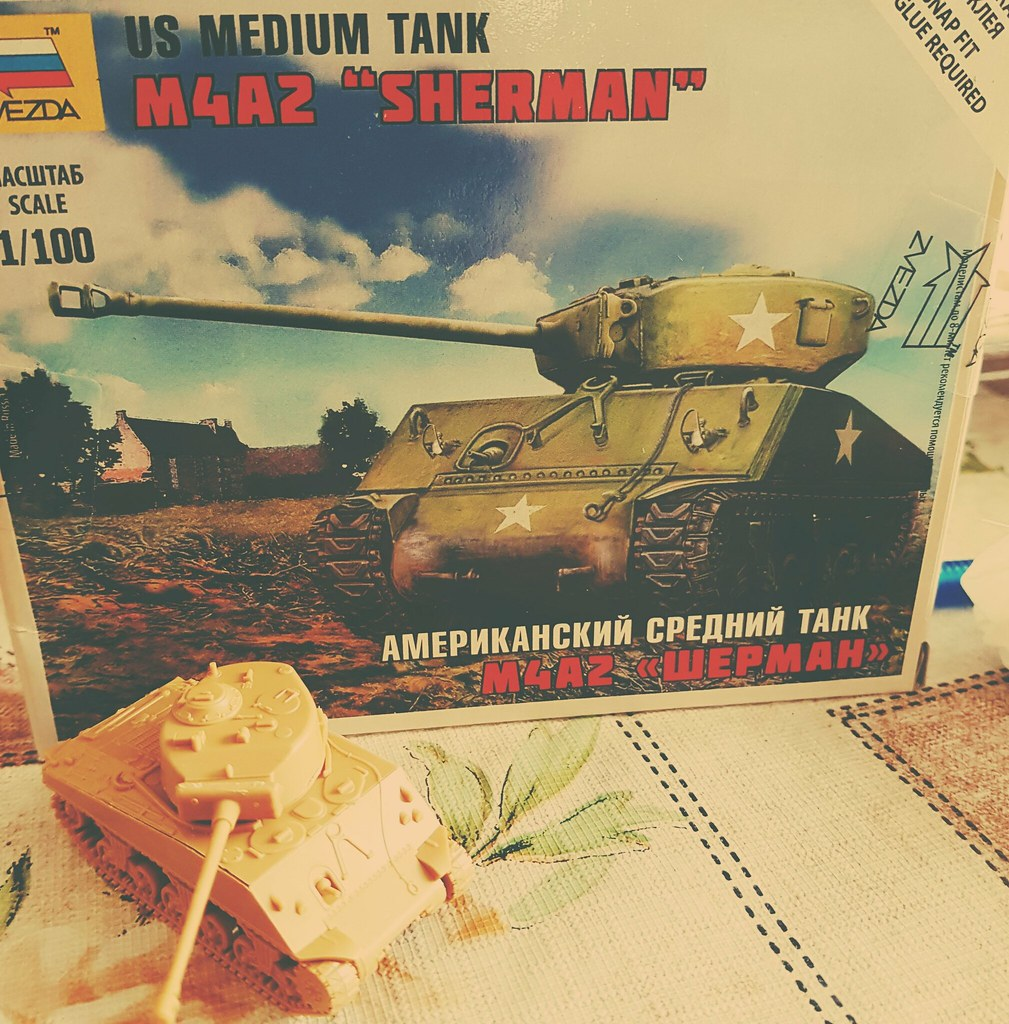 New project, next stage is painting  #model #tank #M4A2 #S… | Flickr