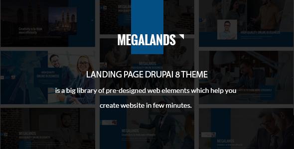 MegaLands v1.0 – Multipurpose Landing Pages Drupal 8 Theme