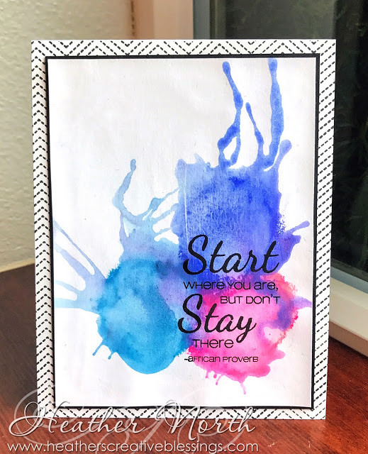 Start Where You Are designed by Heather North at Heather's Creative Blessings