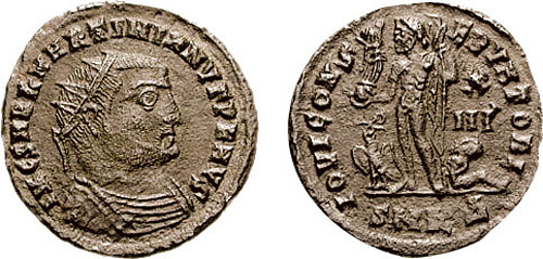 Follis of Sextus Martinianus, the commander of Licinius' bodyguard and his co-emperor