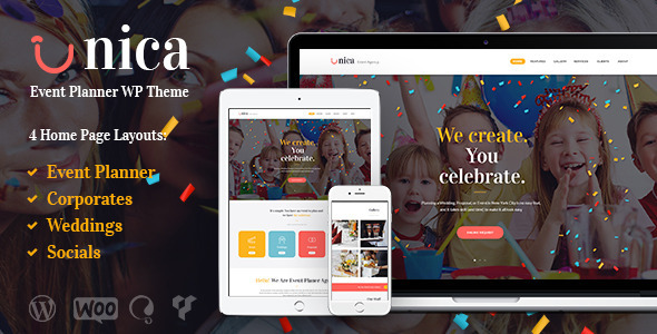 Unica v1.1 - Event Planning Agency Theme
