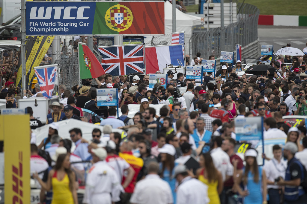 grille de depart starting grid  ambiance during the 2017 FIA WTCC World Touring Car Championship race of Portugal, Vila Real from june 23 to 25 - Photo Gregory Lenormand / DPPI
