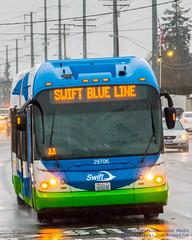 .@MyCommTrans Swift BRT Coming Through the Rain
