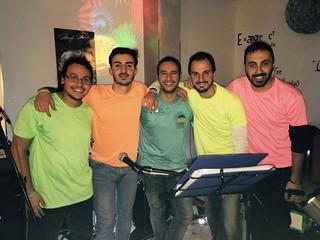Da sinistra Francesco Calisi, Davide Colapietro, Francesco Moschetti, Giuseppe Colapietro, Luca Macina Leone