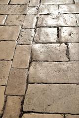 Clean white streets of old Split, Croatia