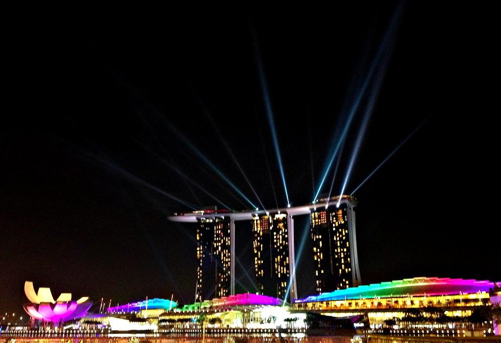 Marina Bay Night Lights
