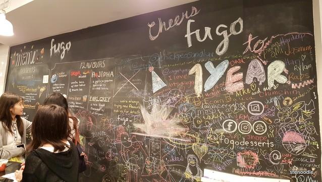 Fugo Desserts chalkboard wall