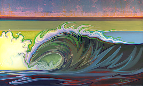 All that's left. From our interview with surf artist Spencer Reynolds