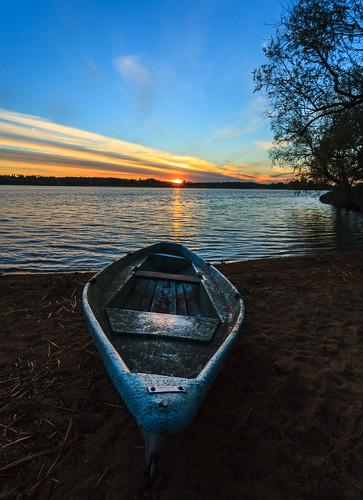 kesä luonto landscape auringonlasku laaksolahti outdoor vene espoo järvi aurinko boat lake nature sun sundown sunset