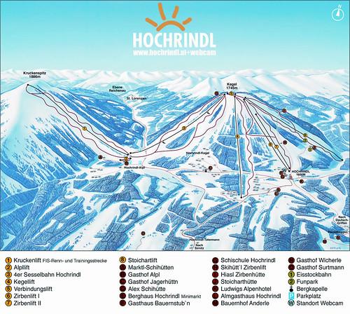 Hochrindl - mapa sjezdovek