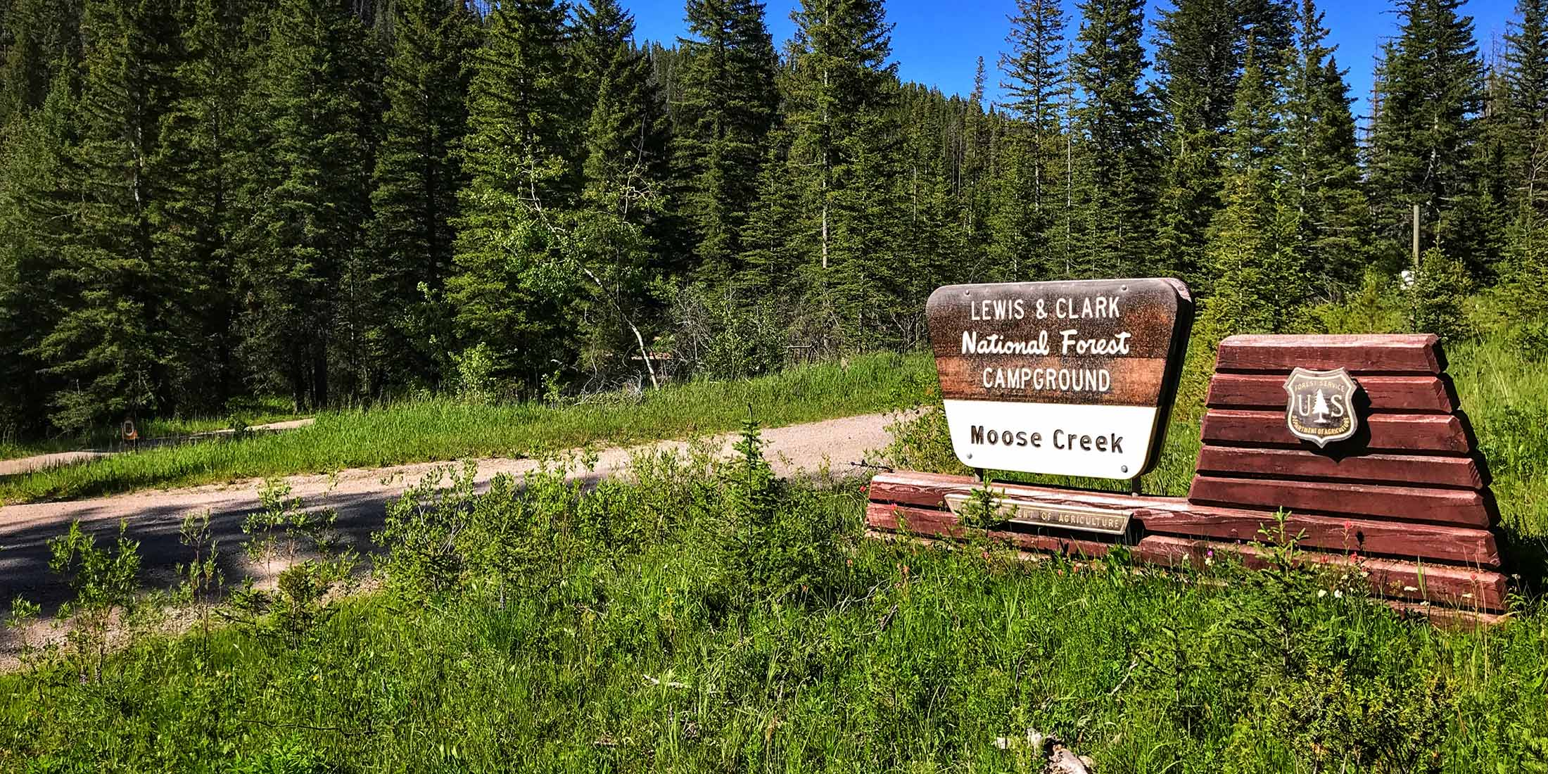 Information about Moose Creek Campground located in the Little Belt Mountain Range, Montana.