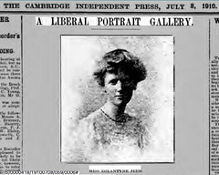 Eglantyne Jebb in Cambridge Independent 08 July 1910