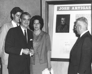 Photograph of the Visit of Ambassador of Uruguay to the National Archives