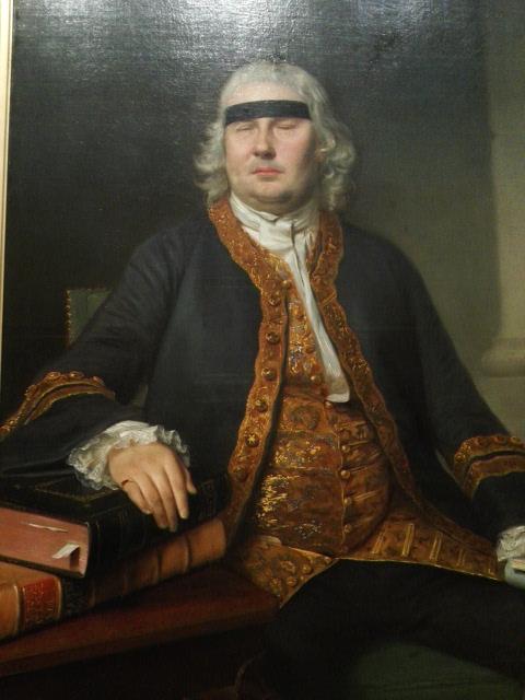 盲目の貴族の肖像 障がい者の判事