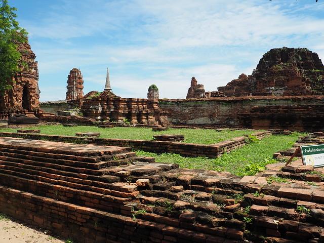 P6222650 ワット・マハータート(Wat Mahathat/วัดมหาธาตุ) アユタヤ タイ thailand 世界遺産