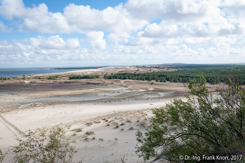 die hohe Sanddüne bei Nidden an der Kurischen Nehrung